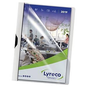 Klemmmappe Lyreco, A4, Fassungsvermögen: 30 Blatt, weiß, 5 Stück