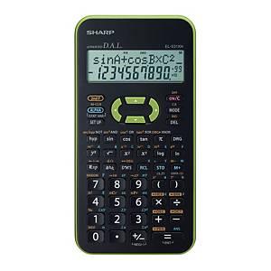 Vědecká kalkulačka Sharp EL-531XH, 2-řádkový 11-místný disp., zelená