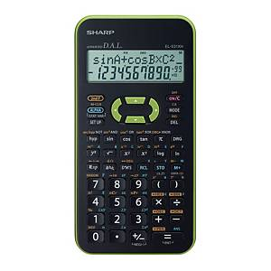 Vedecká kalkulačka Sharp EL-531XH, 2-riadkový 11-miestny disp., zelená