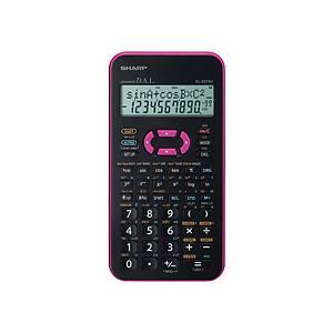 Vědecká kalkulačka Sharp EL-531XH, 2-řádkový 11-místný disp., růžová