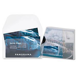 Porte-cartes de visite adhésif 3L Office, le paquet de 10 pochettes