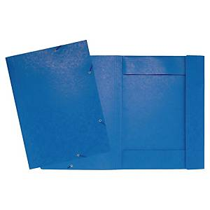 LYRECO PRESSBOARD BLUE A3 3-FLAP FILES WITH ELASTIC - PACK OF 5