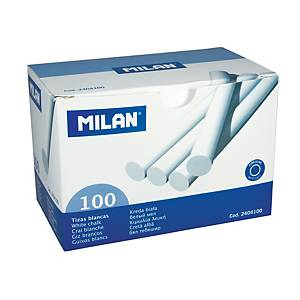 Křídy milan, kulaté bílé, 100 ks