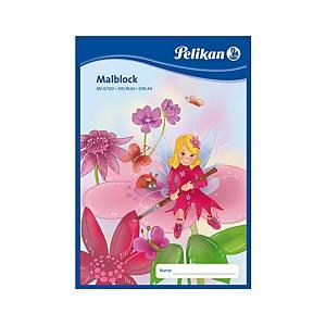 Malířský blok Pelikan  A4/100 listů, 70 g/m², lepený, čistý, mix motivů