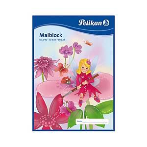 Malířský blok Pelikan A3/30 listů, 70 g/m², lepený, čistý, mix motivů