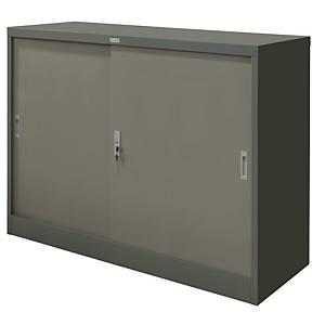 WORKSCAPE ตู้เหล็กบานเลื่อนทึบ ZD0-314 สีเทาสลับ
