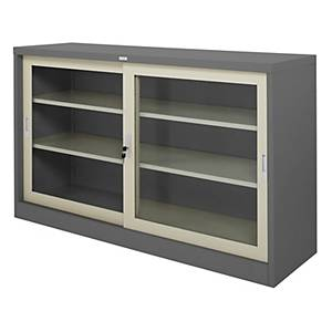WORKSCAPE ZDG-325 Steel Sideboard With Glass Grey