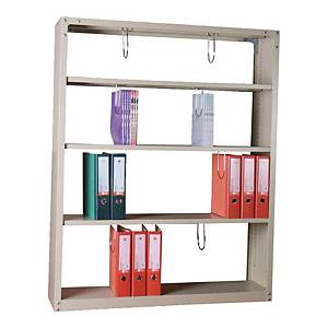 LUCKY S-504 STEEL BOOK SHELF CREAM
