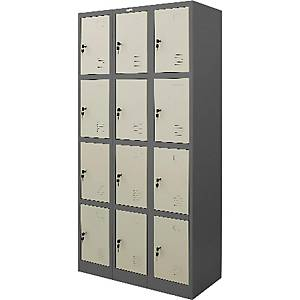 WORKSCAPE ZLK-6112 STEEL LOCKER 12 DOORS GREY