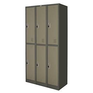 WORKSCAPE ZLK-6106 Steel Locker 6 Doors Grey
