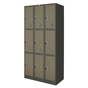 WORKSCAPE ZLK-6109 Steel Locker 9 Doors Grey