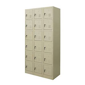 WORKSCAPE ZLK-6118 STEEL LOCKER 18 DOORS CREAM