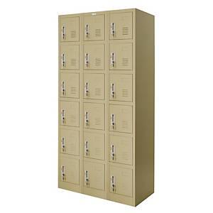 WORKSCAPE ZLK-6118 Steel Locker 18 Doors Cream
