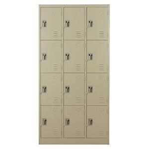 METAL PRO ตู้ล็อกเกอร์ MET-6112N 12 ประตู สีครีม
