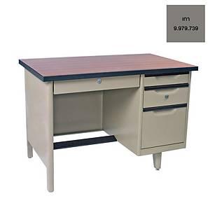 KINGDOM โต๊ะทำงานเหล็ก รุ่น NTC-2648 สีเทา