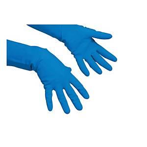 VILEDA PAIR LATEX GLOVES CLEANING M BLU
