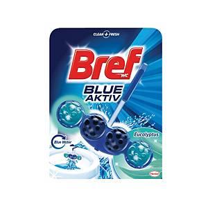 Závesný WC deo blok Bref Blue Aktiv, eukalyptus, 50 g