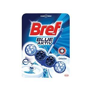 Závesný WC deo blok Bref blue aktiv chlorine 50 g