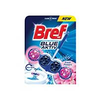 Závěsný WC deo blok Bref blue aktiv květy 50 g