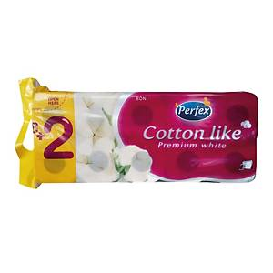 PK10 PERFEX COTTON LIKE TOIL PAP 3 PLY
