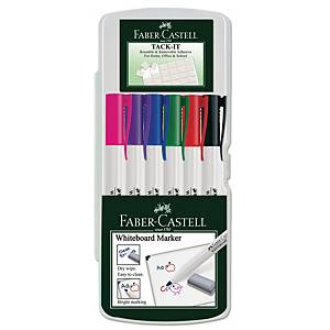 Whiteboardpenna Faber-Castell, förp. med 6 färger