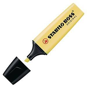 STABILO ปากกาเน้นข้อความ BOSS สีเหลืองพาสเทล