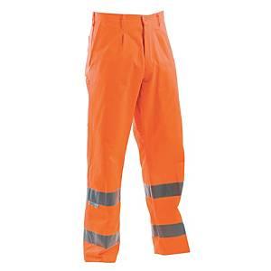 Pantaloni alta visibilità P&P Fustagno arancione tg L