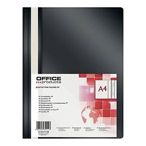 Skoroszyt OFFICE PRODUCTS, A4, PP, czarny