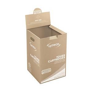 Recolhida um contenedor cheio y entrega um contenedor vazio