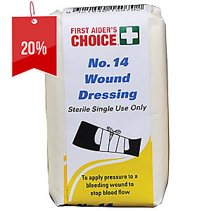 FIRST AIDERS CHOICE SINGLE USE NO.13 WOUND DRESSING SMALL - EACH