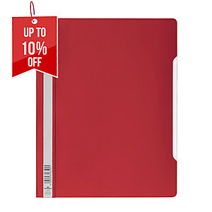 DURABLE CLEAR VIEW RED A4 FOLDER