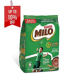 NESTLE MILO ACTIV-GO CHOCOLATE MALT DRINK - SOFT PACK OF 2KG
