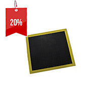 3M 3300 SAFETY WALK CUSHION MAT 710 X 790MM BLACK CENTRE WITH YELLOW EDGE - EACH