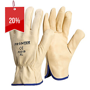 FRONTIER EXTRA-LARGE COWGRAIN RIGGER GLOVES BEIGE - PAIR