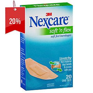 NEXCARE SOFT N FLEX STRIPS MEDIUM - PACK OF 20