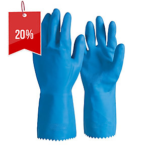 FRONTIER RUBBER LATEX SILVERLINED MEDIUM GLOVES BLUE - PAIR