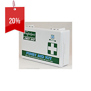 TRAFALGAR OFFICE FIRST AID KIT PLASTIC CASE 260 X 170 X 85MM - EACH