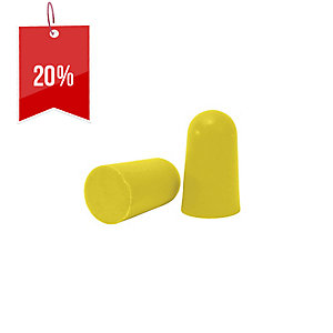 FRONTIER DISPOSABLE UNCORDED EARPLUGS YELLOW - PACK OF 5 PAIRS