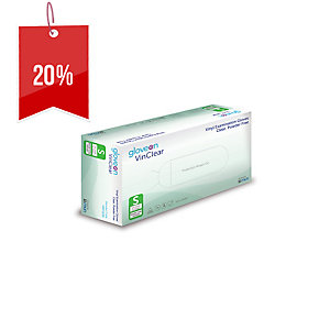 GLOVEON VINCLEAR DISPOSABLE GLOVES SMALL - BOX OF 100
