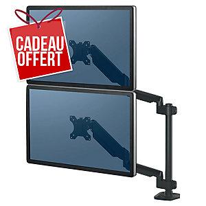 Bras porte écrans double vertical Fellowes Platinum Series
