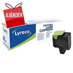 LYRECO kompatibilis toner lézernyomtatókhoz LEXMARK 70C2HK0 fekete