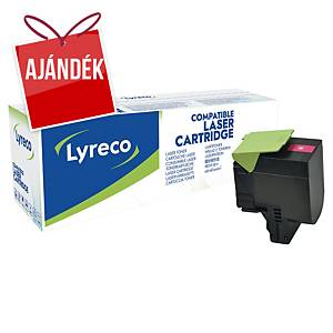 LYRECO kompatibilis toner lézernyomtatókhoz LEXMARK 70C2HM0 magenta
