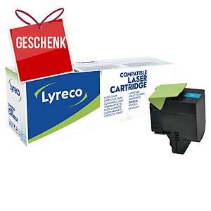 LYRECO kompatibler Lasertoner LEXMARK 80C2HC0 cyan