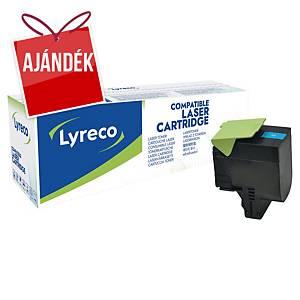 LYRECO kompatibilis toner lézernyomtatókhoz LEXMARK 80C2HC0 ciánkék