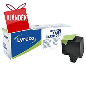 LYRECO kompatibilis toner lézernyomtatókhoz LEXMARK 80C2HK0 fekete