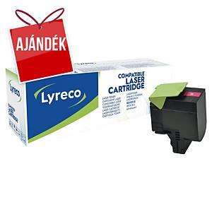 LYRECO kompatibilis toner lézernyomtatókhoz LEXMARK 80C2HM0 magenta