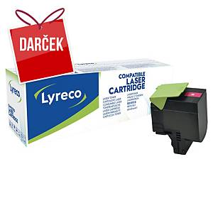 LYRECO kompatibilný laserový toner LEXMARK 80C2HM0 magenta
