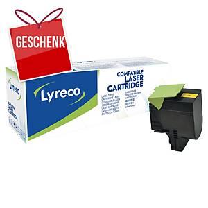 LYRECO kompatibler Lasertoner LEXMARK 80C2HY0 gelb