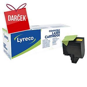 LYRECO kompatibilný laserový toner LEXMARK 80C2HY0 žltý