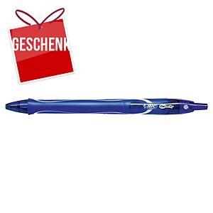 BIC Gelocity Quick Dry Gelschreiber, mit Druckmechanik, 0,7 mm, blau